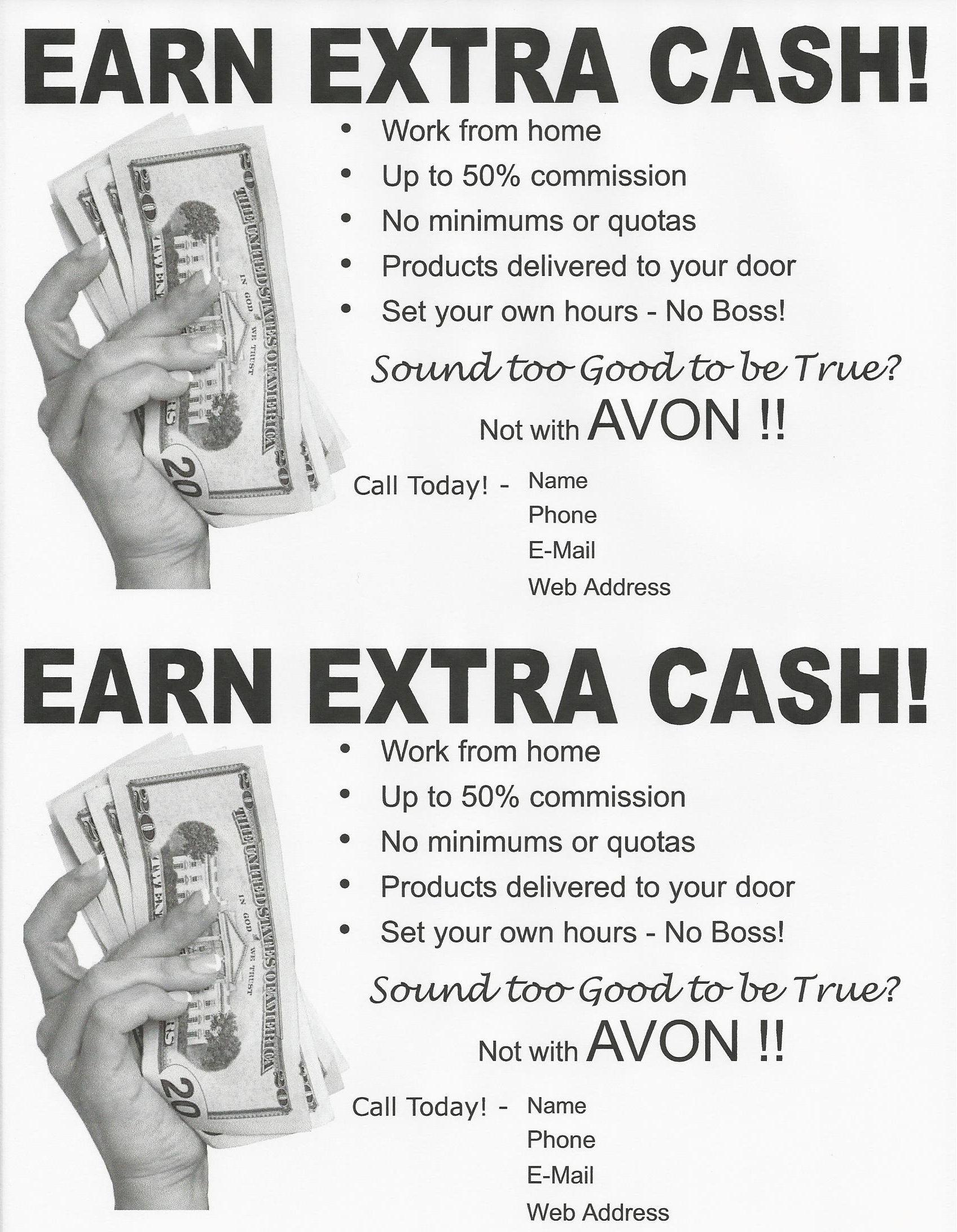 Earn Extra Cash Recruiting Flyer