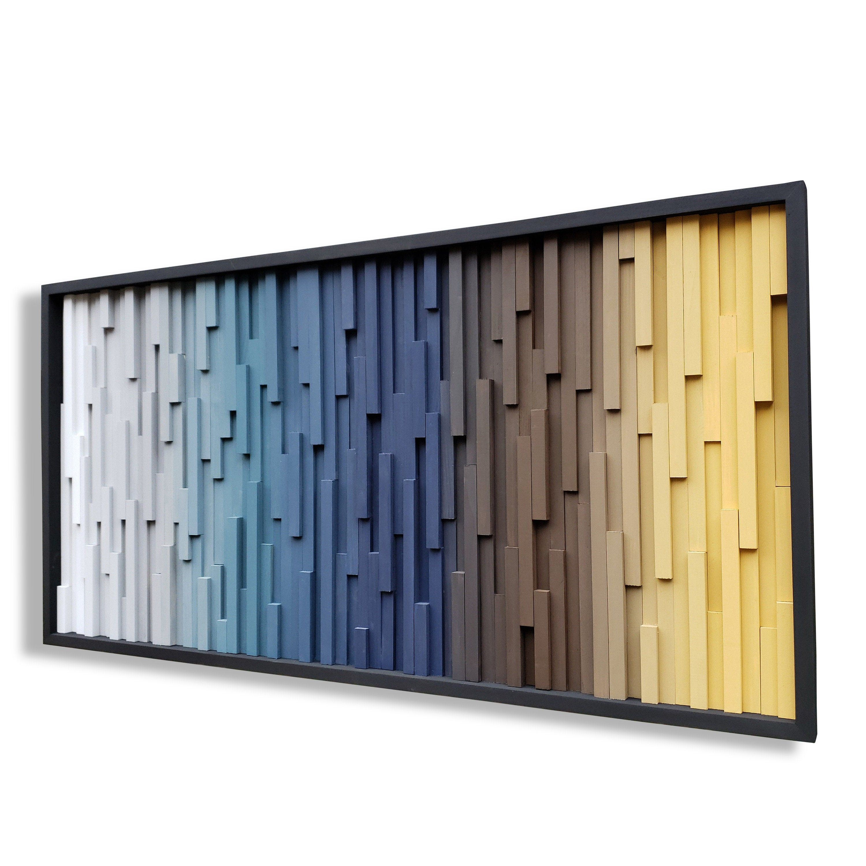 Earth Tone Wood Wall Art Dimensional Wall Art Custom Wall Personalized Wall Decor Custom Wall Art Wood Wall Art