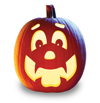 pumpkin template happy  Happy Hal Pumpkin Carving Pattern---maybe easy enough for Z ...