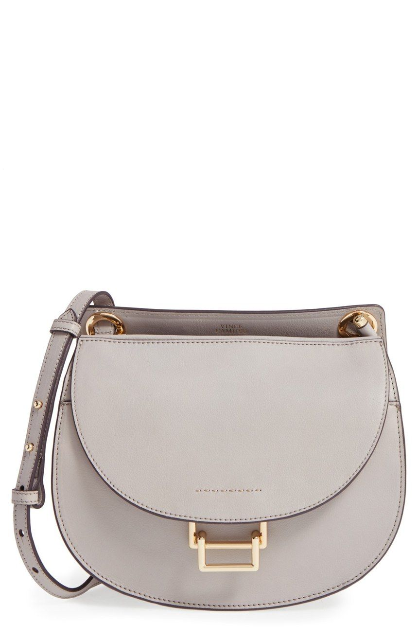 Sleek Equestrian Inspired Curves Refine This Classic Crossbody Bag With Polished Goldtone Hardware