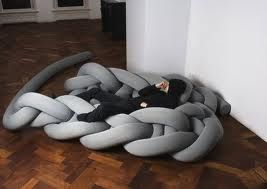 Incredible knit: Bauke Knottnerus grey couch