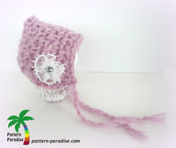 Pixie Bonnet Free Pattern by Pattern-Paradise.com | Yarn: Hats ...