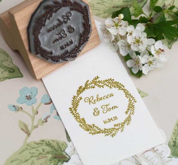 Wedding Favour With Botanical Wreath Border Make Your Own Favours Or Party