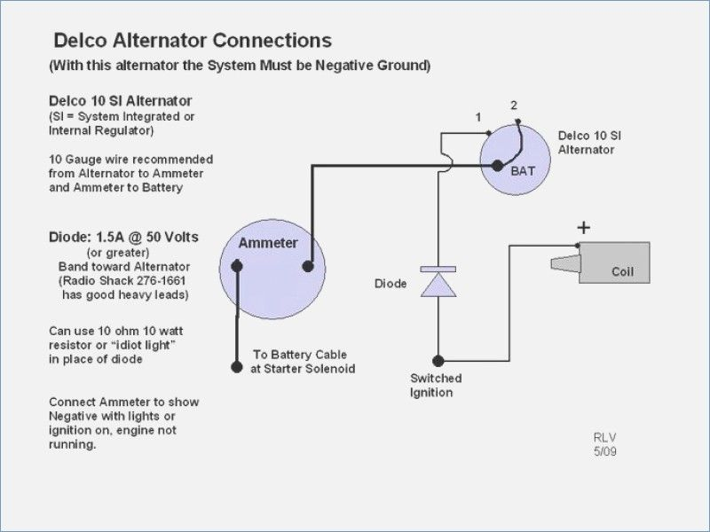 1 wire alternator wiring diagram installation and