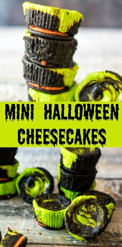 Mini Halloween Cheesecakes - Life With The Crust Cut Off