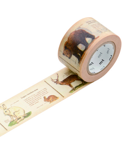 MT Tape - Animals  An absolutely lovely roll of MT Tape depicting animals with their encyclopedic listing. Very autumnal in colouring and just so beautiful.