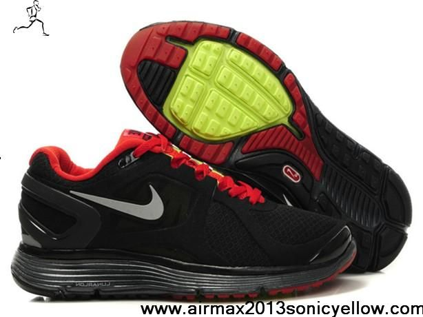 350eabe275 New Nike LunarEclipse 2 Black Sport Red 487983-006 Mens Casual shoes Store
