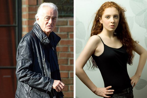 2016 jimmy page and scarlett sabet