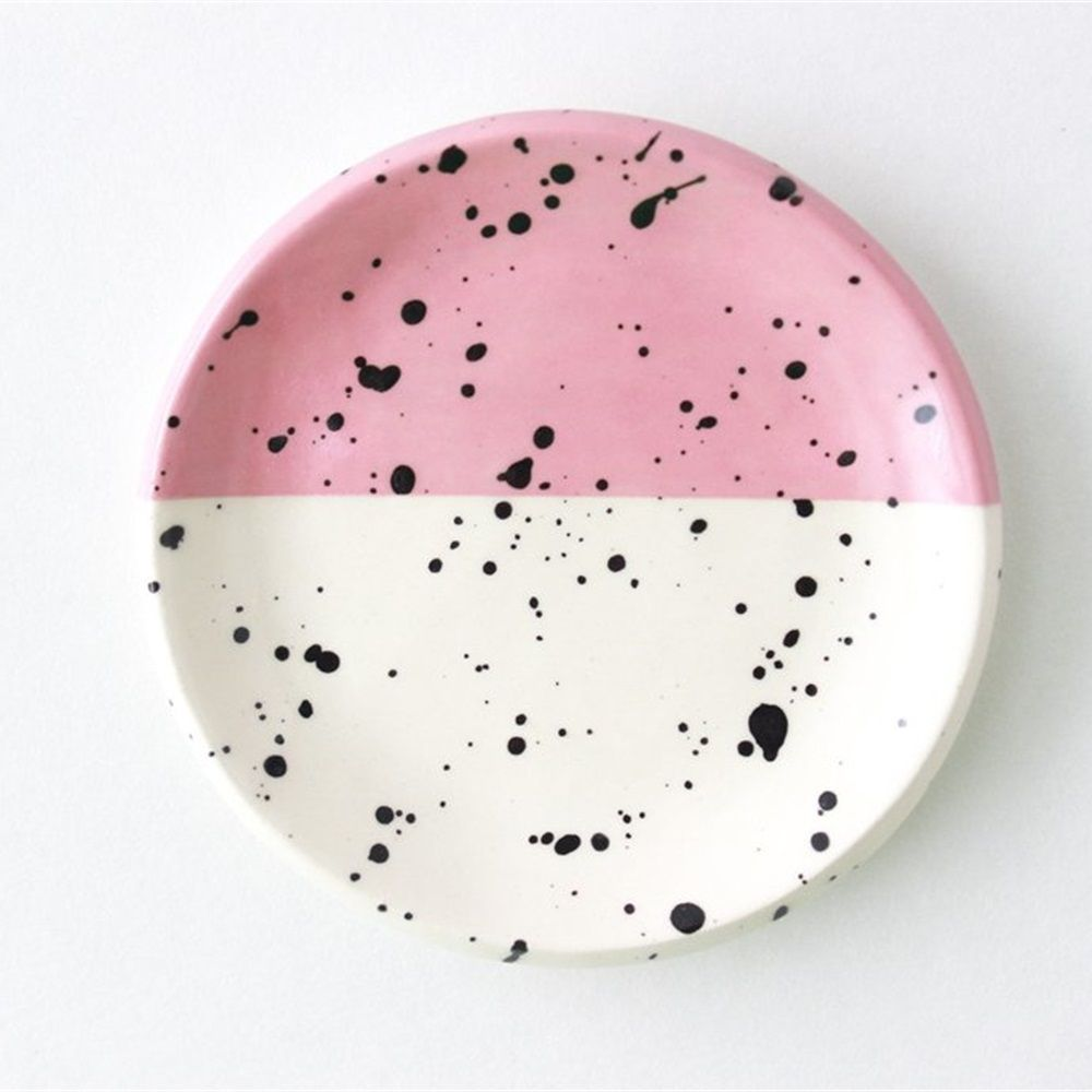 Splatter Ring Dish - pink | Dishes
