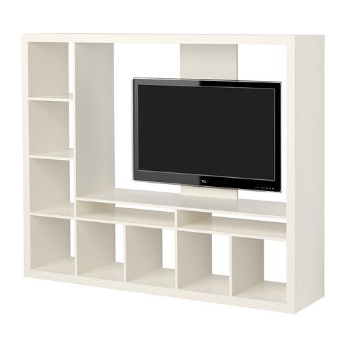 Ikea Lland White Tv Storage Unit In 2019