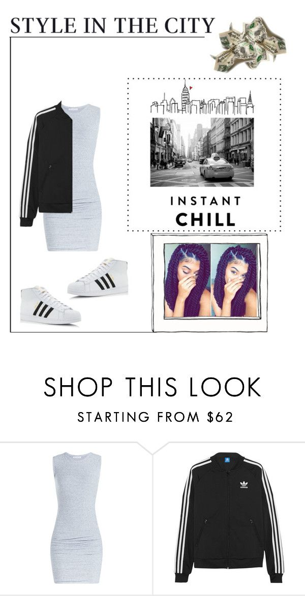 """""""Me"""" by queen-slayyyy ❤ liked on Polyvore featuring James Perse, adidas Originals and adidas"""