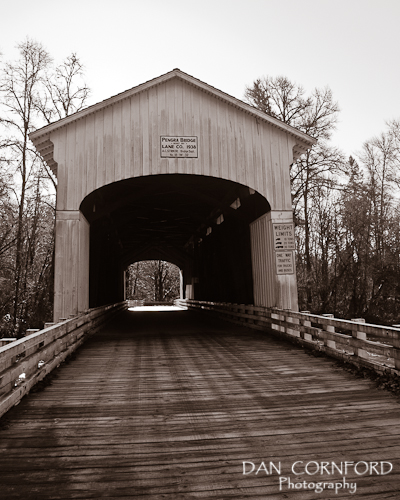 Pengra Covered Bridge in Lane County, Oregon, near Dexter  http://www.dancornfordphotography.com/covered-bridges-2/  #pengra #bridge #coveredbridge #dexter #oregon #lanecounty