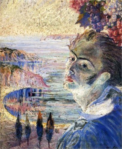 Self Portrait With Raphaelesque Neck Dali Repro Art Print A4 A3 A2 A1