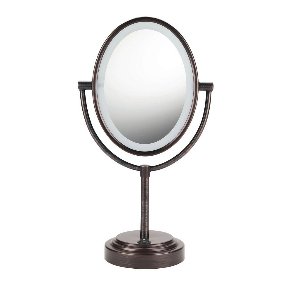 Conair Oval Double Sided Lighted Vanity Mirror Mirror With