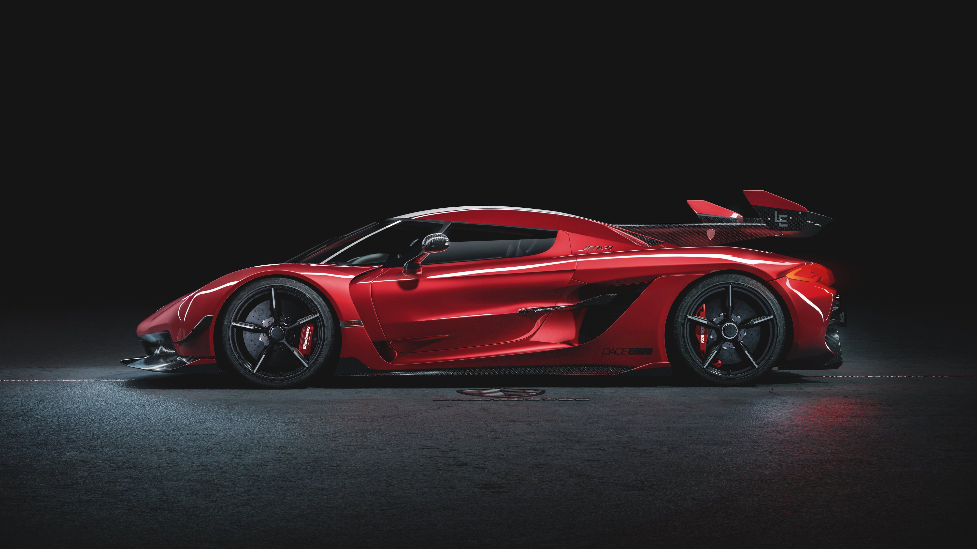 Koenigsegg Jesko Cherry Red Edition 10 Side View Koenigsegg Wallpapers Koenigsegg Jesko Wallpapers Hd Wallpapers Cars W Koenigsegg Car Wallpapers Super Cars