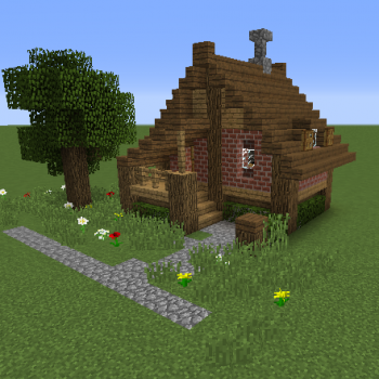 Small Survival House 2 Grabcraft Your Number One Source For Minecraft Buildings Blueprints Minecraft Small House Minecraft Cottage Easy Minecraft Houses