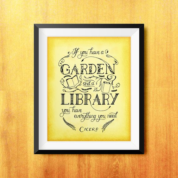 If You Have a Garden and a Library Cicero by ACrescendence on Etsy ...