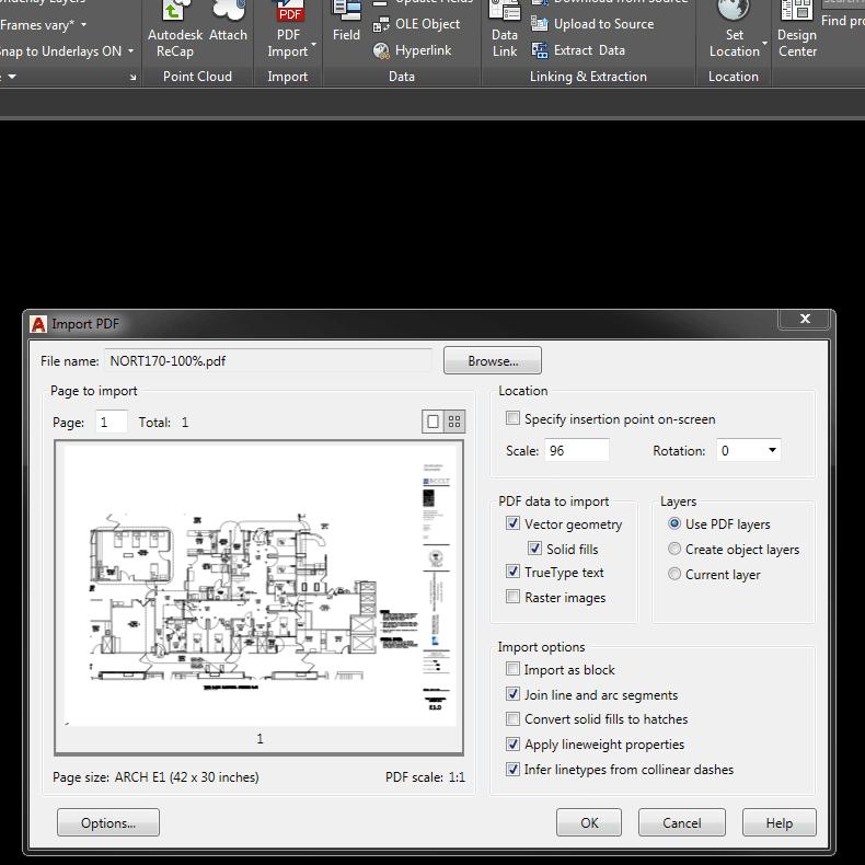 Autocad 2017 Pdf Import Conversion Explained Autocad Data Design Blueprints