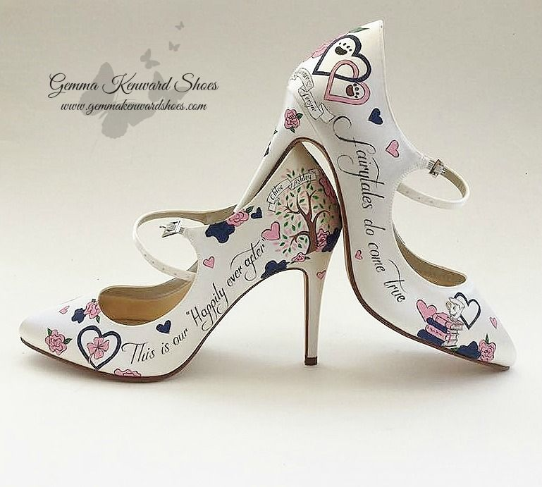 b3d751653 Personalised Mary Jane Wedding Shoes with dog paw prints
