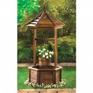 RUSTIC WISHING WELL GARDEN PLANTER: Amazon.ca: Patio, Lawn & Garden