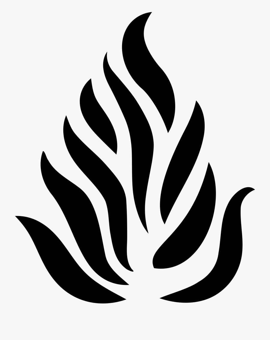 Big Image Png Black And White Flame Clipart Black And White Clip Art Fire Icons