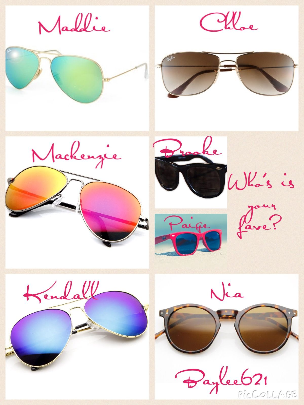 Comment down which one of their sunglasses is your fave. ALL CREDIT goes to Baylee621!