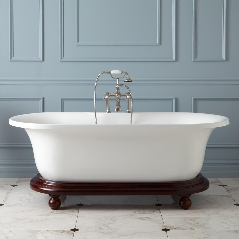 68 Poynter Acrylic Freestanding Tub On Wood Base Bathtubs