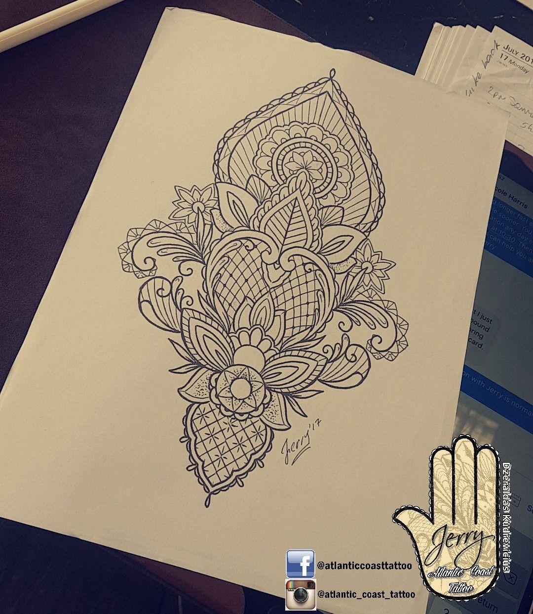Beautiful tattoo idea design for a thigh arm by dzeraldas for Tn tattoo laws
