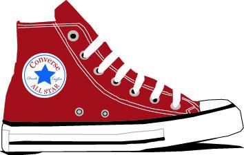 Converse Cliparts Converse High Top Chucks Shoes Clipart