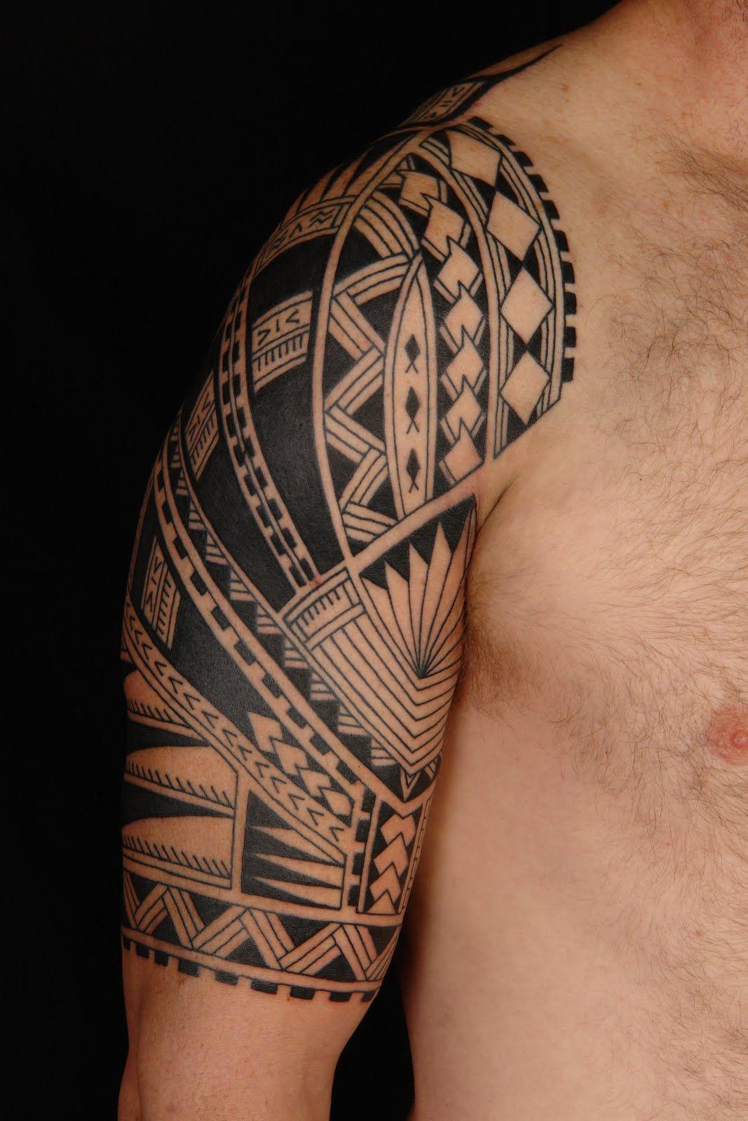 Maori Half Sleeve Tattoo: MAORI POLYNESIAN TATTOO: Samoan Polynesian Half Sleeve