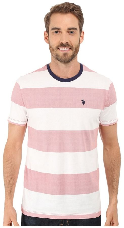 92733bf20 U.S. Polo Assn. Wide Stripe Crew Neck T-Shirt | Products