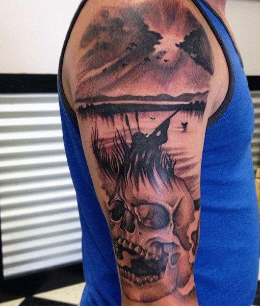 70 Cute Peace Tattoos: 70 Hunting Tattoos For Men