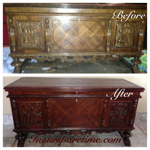 Hereu0027s A Beautiful Antique Cedar Chest Of My Great Grandmothers That I  Refinished. Furniture ...