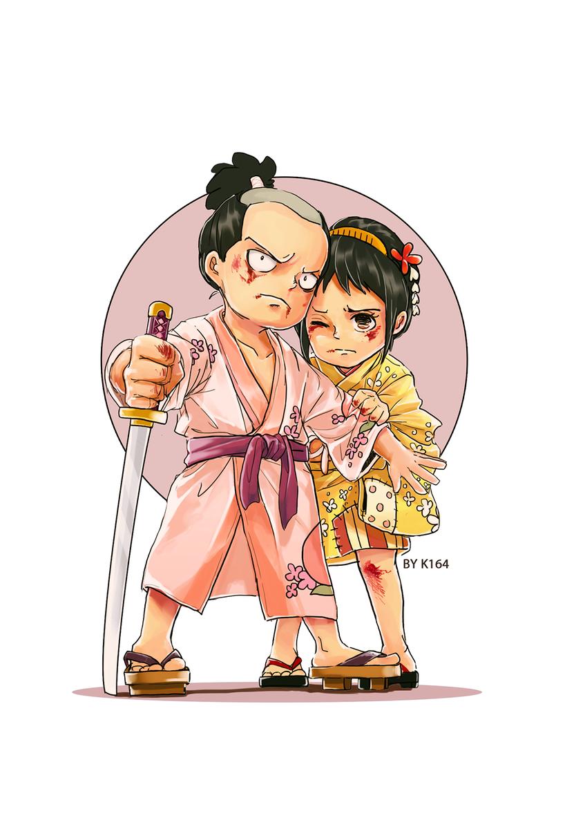 Momonosuke & Tama by @K16416 - One Piece (avec images ...
