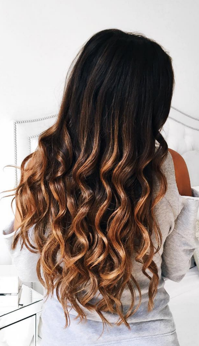 Perfect Waves 3 With Ombre Chestnut Luxy Hair Extensions On