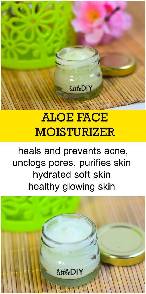 ALOE FACE & BODY MOISTURIZER FOR SMOOTH GLOWING SKIN - LITTLE DIY #homemadefacelotion