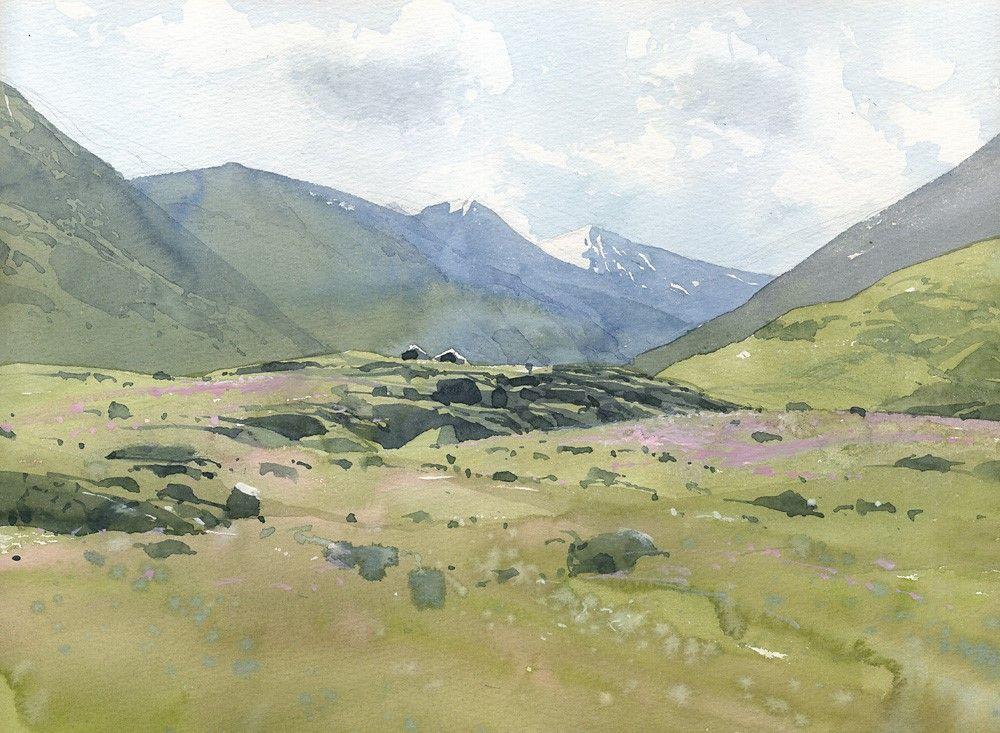 Sergei kurbatov watercolor painting pinterest art aquarelle aquarelle et art - Paysage enneige dessin ...
