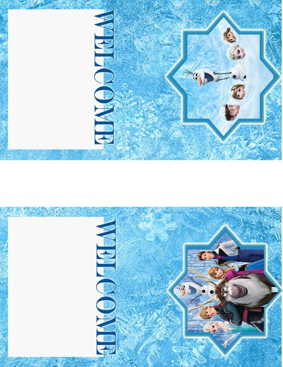 Frozen Birthday Party Name Place Cards Instant Download