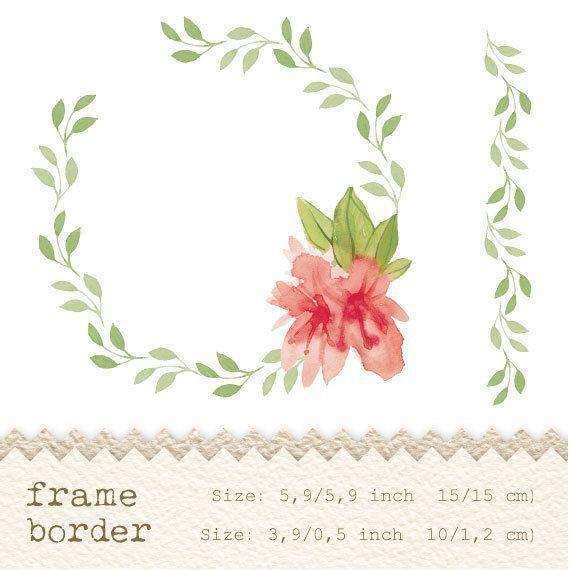 Flower border watercolor google search art pinterest