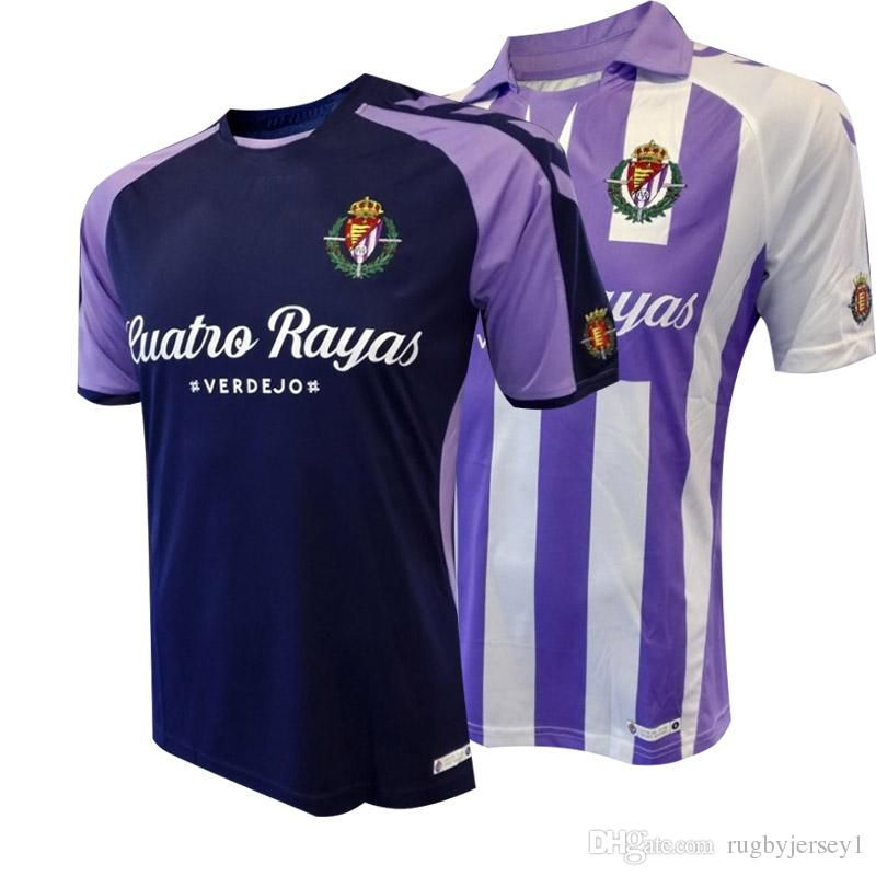 e14aae4d 2018 2018 2019 Spain Liga Real Valladolid Home Away Soocer Jersey 18 19  Real Valladolid Football Jerseys Jaime Mata Michel Guitan Hervias From  Rugbyjersey1, ...