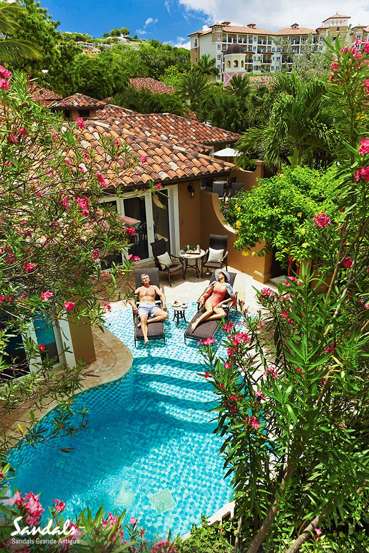 Find your very own haven of tranquility in our garden suites, with your very own private pool at Sandals Grande Antigua.