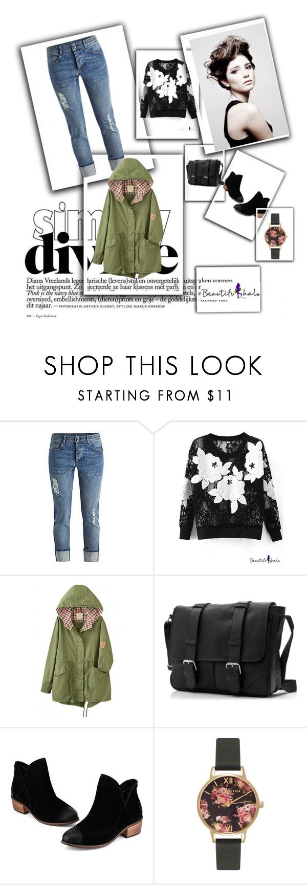 """""""Beautifulhalo 15-I"""" by almma-karic ❤ liked on Polyvore featuring Angelo, Olivia Burton, women's clothing, women, female, woman, misses, juniors, beautifulhalo and bhalo"""