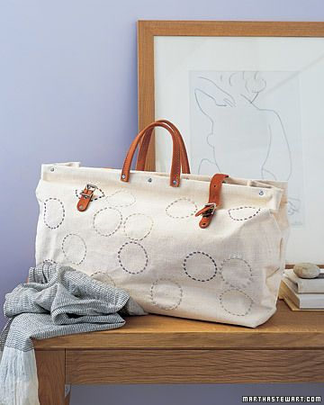 Sewing Projects: Tote Bags and Purses    Patterned Circle Tote