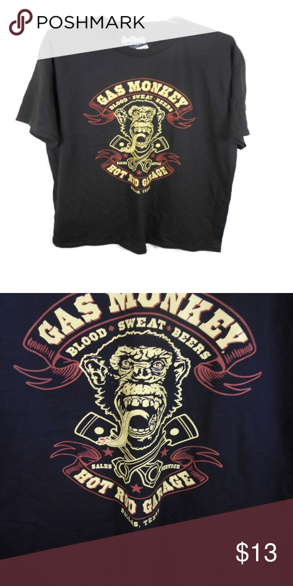 Gas Monkey Garage Blood Sweat Beers Graphic Tee Gas Monkey Garage Dallas, TX Graphic Tee  Brand: Gas Monkey Garage Size: XL Measurements: Armpit to Armpit 23 Length Shoulder to Hem 31 Condition: New with Tags Fabric: 100% Cotton Wash Instructions: Machine Color: Black/Multi  Smoke Free Environment  Fast Shipping Gas Monkey Garage Shirts Tees - Short Sleeve #gasmonkeygarage Gas Monkey Garage Blood Sweat Beers Graphic Tee Gas Monkey Garage Dallas, TX Graphic Tee  Brand: Gas Monkey Garage Size: X #gasmonkeygarage