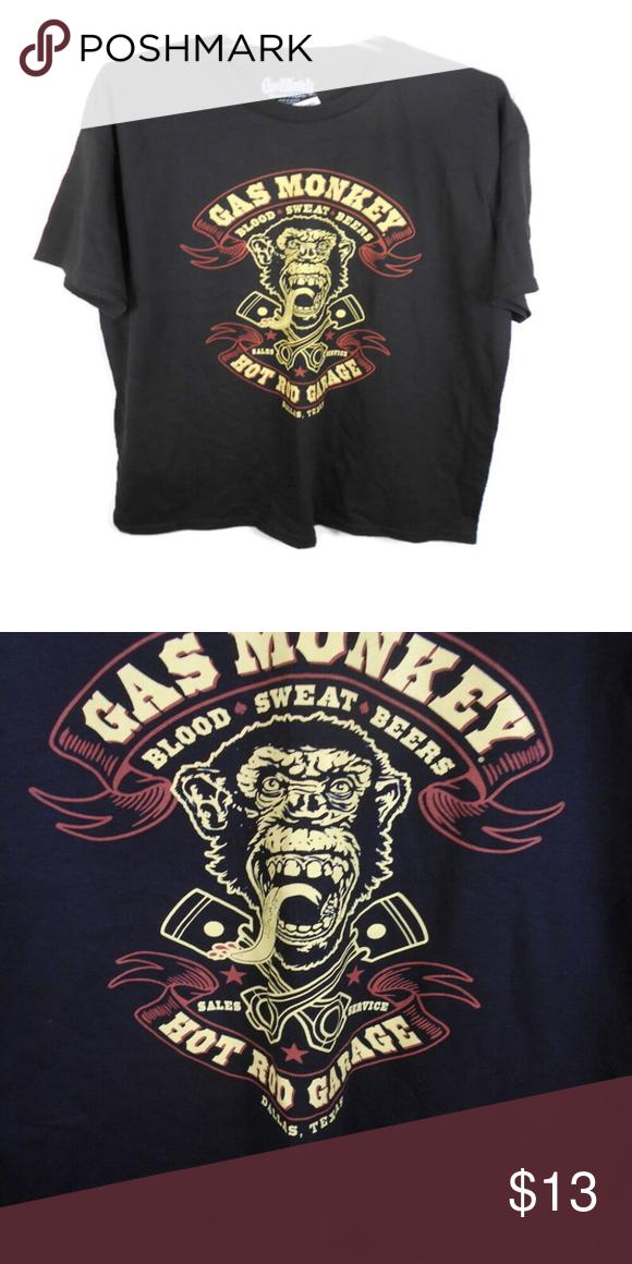 Gas Monkey Garage Blood Sweat Beers Graphic Tee Gas Monkey Garage Dallas, TX Graphic Tee  Brand: Gas Monkey Garage Size: XL Measurements: Armpit to Armpit 23