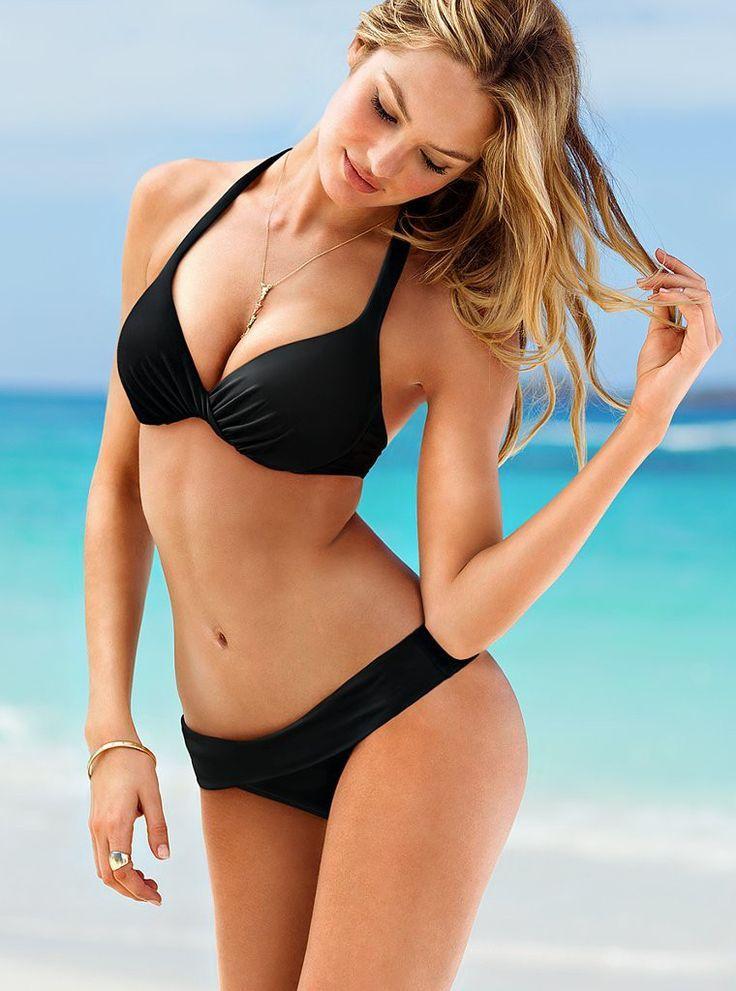 f4d0839ae09 Stunning Black Bikini,for style beautiful girl! #BlackBikini #Bikini # Swimsuit #streetfashion #trend #outfit #SleevelessTop #Jacket #fashion #USA  ...