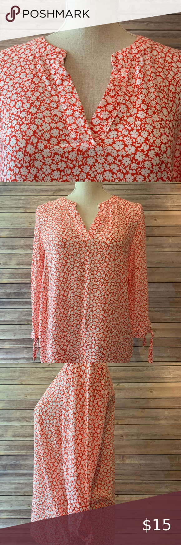 Photo of Rose & Thyme Floral Top Rose & Thyme size L Floral Top.  Pin…