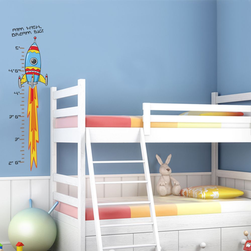 Rocket growth chart ideas for kids rooms pinterest for Growth chart for kids room