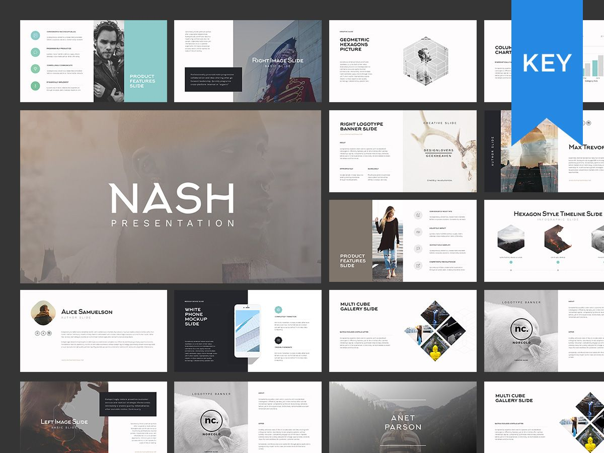 nash keynote presentation template by goashape on creativemarket