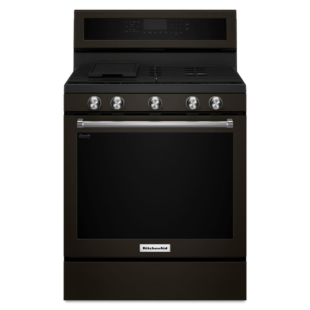 Kitchenaid 58 cu ft gas range with selfcleaning oven